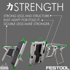 Nice MFT like workbench design Festool Ts 55, Festool Tools, Diy Garage Storage, Tool Storage, Woodworking Projects Diy, Woodworking Shop, Van Racking Systems, Workbench Designs, Workbench Ideas