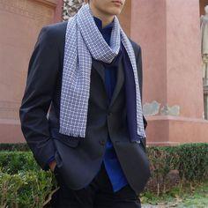 Bufanda hombre edición limitada, pieza única Blazer, Jackets, Fashion, Geometric Prints, Scarves, Sustainable Fashion, Men, Down Jackets, Moda