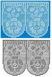 MIRIA CROCHÊS E PINTURAS: BARRADOS DE CROCHÊ FILÉ COM MOTIVOS DE ROSAS N° 306