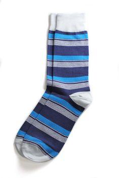 poindexter blue socks by richer poorer.