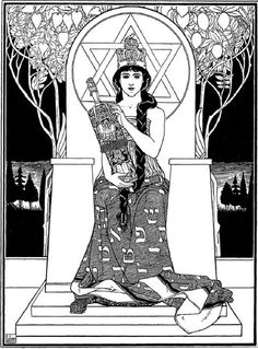 """The Queen of Sabbath"" by Ephraim Moses Lilien from Juda, Berlin, 1900-1 #torah"