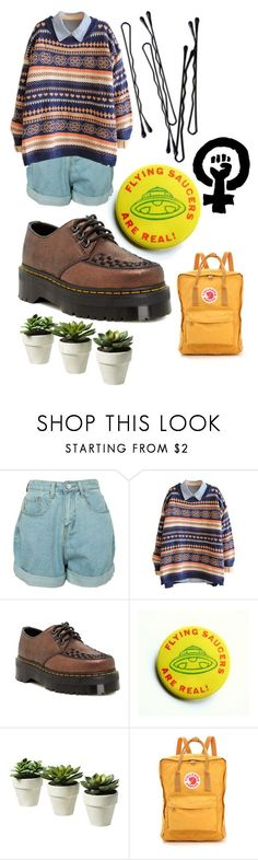 """""""Art hoe, ish?"""" by its-aoife ❤ liked on Polyvore featuring Dr. Martens, BOBBY and Fjällräven"""