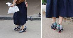 Bláznivé holubí boty baví internet. Do města jsou praktické, pochvaluje si majitelka   Frekvence 1
