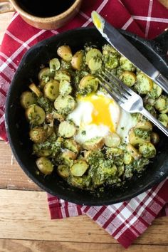 Pesto Potato Breakfast Skillet