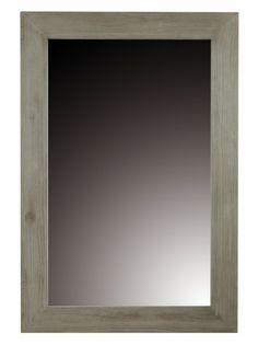 COD. TG-MIR2  SPECCHIO Dimensioni: L80 P3 H120 cm  Struttura: LEGNO DI TECK MASSELLO GRIGIO PERLA
