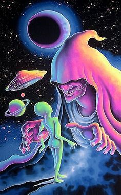 ufo-the-truth-is-out-there: Pastel ufo art:. Hippie Grunge, Hippie Art, Psychedelic Art, Bad Trip, Acid Art, Art Beat, Trippy Wallpaper, Stoner Art, Psy Art