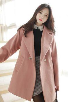 Gold Pastel Coat Korean Fashion