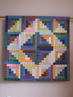Sara's No. 6 in Stripes wall quilt