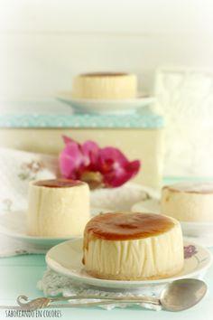 cheesecake de higos31 Individual Cakes, Cheesecakes, Vanilla Cake, Panna Cotta, Bakery, Recipies, Pudding, Sweets, Cooking