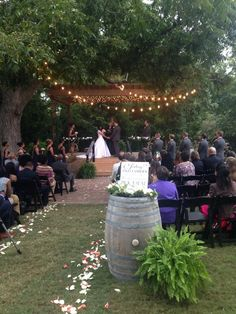 Bernhardt Winery, My dream wedding venue, but with a lot more lights, a lot more flowers, and just a lot more, this specific ceremony is just too bland for me. <3