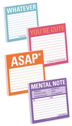 Cute school supplies are great stocking stuffers for tweens and teen girls. Witty Sticky Note Pads are fun for writing messages. #Christmas