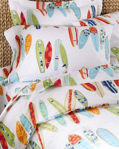 Surfboards Percale Bedding