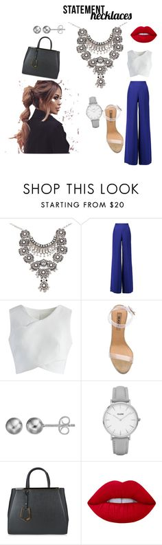 """""""Untitled #11"""" by kaseemat ❤ liked on Polyvore featuring Emilio Pucci, Chicwish, YEEZY Season 2, Journee Collection, Topshop, Fendi, Lime Crime and statementnecklaces"""