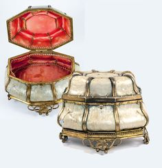 Antique French Jewelry Box, Casket, Mother of Pearl and Ormolu, c.1810-40