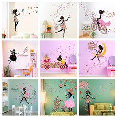 Flower Girl Removable Wall Art Sticker Vinyl Decal Kids Room Home Mural Decor #UnbrandedGeneric