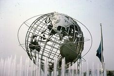 Original Slide of the unisphere at the New York Worlds Fair. World's Fair, New York, Deco, History, Architecture, New York City, Historia, Decoration, Deko