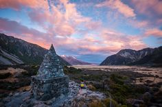New Zealand's South Island Is Heaven On Earth | Bored Panda Mt. Cook Sunset by Antony Harrison