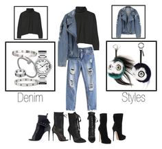 Denim styles by dejanadi on Polyvore featuring polyvore, fashion, style, Marni, Casadei, Christian Louboutin, Cartier, Fendi, Giuseppe Zanotti and clothing