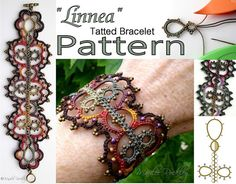 PDF Shuttle Tatting Pattern Linnea tatted bracelet by yarnplayer