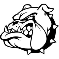 school mascot bulldog clip art bulldog mascot logo stencil with rh pinterest com bulldog football mascot clipart friendly bulldog mascot clipart