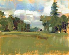 Impressionist Landscape Plein Air Original oil by JoanneMehlStudio