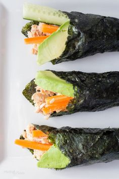 Rollos nori de ensalada de atún | 21 Bocadillos fáciles y saludables para cuando estás tratando de bajar de peso
