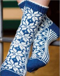 Snowflake Socks by Chrissy Gardiner