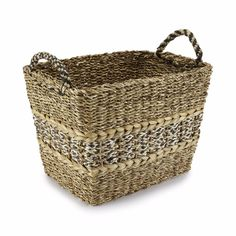 Buy Large Hogla Leaf and Jute Woven Basket, Oxfam, Sourced by Oxfam, Accessories Basket Weaving, Jute, Great Gifts, Leaves, Stuff To Buy, Bethlehem, Accessories, Shopping, Nativity