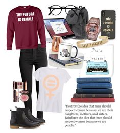 """Be who you are and inspired others"" by mony-nymo on Polyvore featuring Kipling, Samsung, Sonix, Charlotte Tilbury, womensHistoryMonth, pressforprogress and GirlPride"