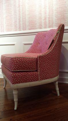 https://flic.kr/p/z5zBw1   thibaut - hpmkt fall 2015 2 pink ikat wallpaper chair bamboo