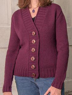 Ravelry: Cambridge Top-Down Cardigan pattern by Sue McCain Ladies Cardigan Knitting Patterns, Free Knitting Patterns For Women, Knit Cardigan Pattern, Knit Sweater Dress, Knit Sweaters, Knitting Stitches, Knitting Needles, Yarn Sizes, Yarn Store