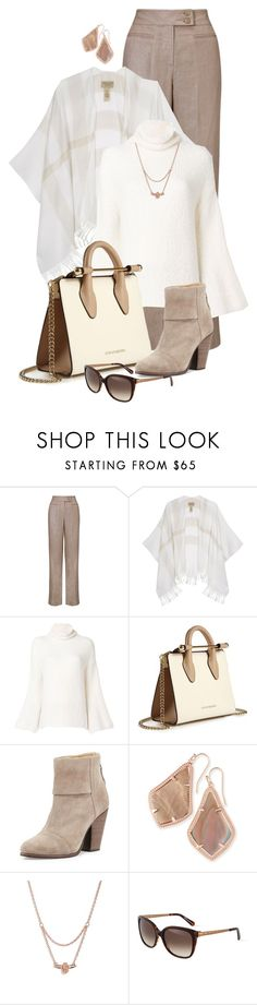 """Untitled #2591"" by anfernee-131 ❤ liked on Polyvore featuring John Lewis, Burberry, Lamberto Losani, Strathberry, rag & bone, Kendra Scott, Olivia Burton and Balmain"