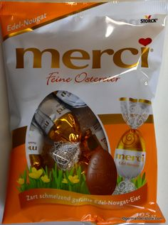 Storck merci Fine Easter Eggs - Hazelnut Cream are filled chocolate eggs with in delicious noble nougat. A tender melting pleasure.Store cool and dry.Net.Wt. 105g (3.7oz)   Shipping Wt. 140gAttention:  Heat...