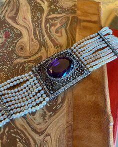 Beaded Bracelets, Necklaces, Amethyst Bracelet, Antique Jewelry, 19th Century, Pearls, Diamond, Natural, Instagram