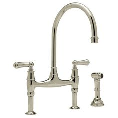 KITCHEN- Rohl: Perrin & Rowe bridge kitchen faucet with sidespray #U.4719L