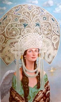 Russian costume in painting. Valeriy Belenikin. 2004.