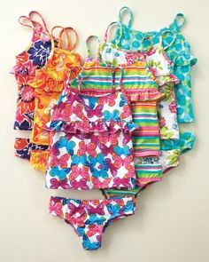 Modest at any age!, Essential Ruffled Tankini Swimsuit - Baby Girls and Girls - Garnet Hill