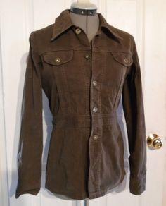 Vintage 1960s 70s LEE SANFORIZED Jacket UNION MADE Rivet Buttons Brown Sz 10 #Lee
