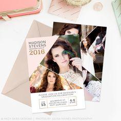 High School Graduation Announcement Templates Photographers Photoshop – Photoshop Templates for Photographers, Photography Marketing Templates, Photo Card Templates, Album Templates & more! – Hazy Skies Designs, LLC