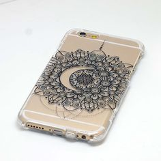 Crescent Moon Mandala Henna Phone Case iPhone 6, 6 Plus, 5, 5C, 5S, Galaxy S4, S5, Note 4