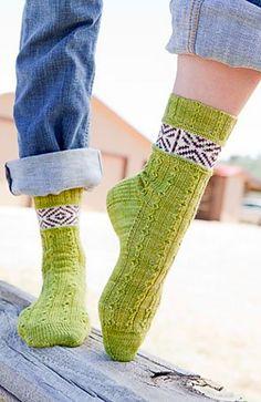 Claud Socks pattern by Rachel Coopey