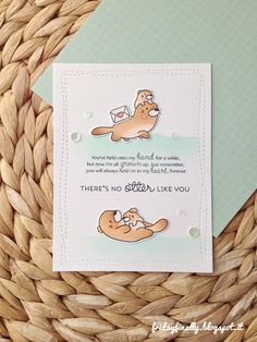 "fridayfinally: ""Lovely otters"" feat. Mama Elephant!"