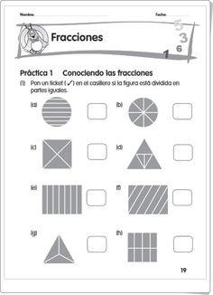 """Fracciones"" (Cuadernillo de fracciones y números decimales) Decimal, Fractions Worksheets, Maths Area, Learning Numbers, Math Notebooks, Math Class, Funny Math"