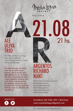 Richard Nant + Ale Oliva Teatro de la Media Legua