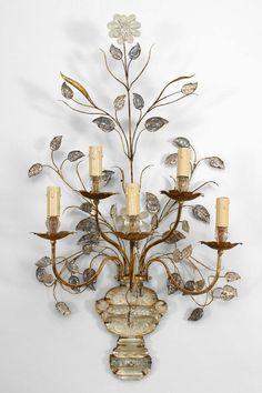 Art Moderne/1940s French lighting sconces glass