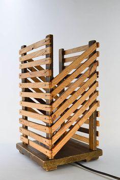 Wood Table Lamp Table Lamp Desk Lamp Wood Floor by TheWoodArtShop