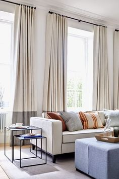 Best Tall Curtains Living Room , In the event the room is not really large bold colours and intricate patterns are not going to look very good and vice versa, in a huge room with high. Tall Curtains, Curtains Living, Living Room Windows, Curtains With Blinds, Plain Curtains, Modern Curtains, Bedroom Curtains, Beige Curtains, Contemporary Curtains