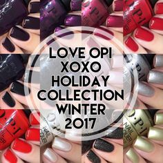 OPI, Love OPI XOXO Holiday Winter 2017 Collection