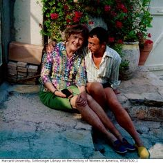 Julia Child and Richard Olney in Provence, early 1970s
