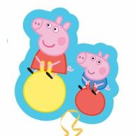 Peppa and George Supershape Foil Balloon - Peppa Pig - Party Ark Peppa Pig Y George, George Pig, Helium Balloons, Foil Balloons, Peppa Pig Familie, Fiestas Peppa Pig, Party Supplies Australia, Peppa Pig Party Supplies, Papa Pig